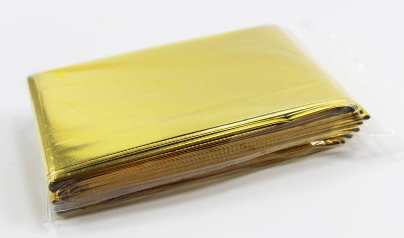rettungsdecke 210x160cm silber gold 10 st ck 8 34. Black Bedroom Furniture Sets. Home Design Ideas